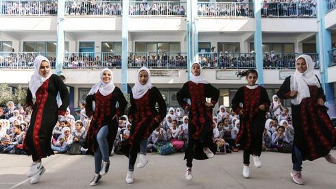 Escuela de la UNRWA en Beit Hanoun en la Franja de Gaza.