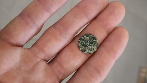 La moneda de 1.500 años encontrada en Korazim.