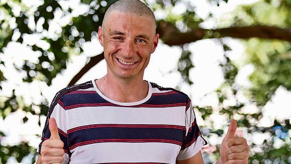 Anton Garbuz, de 40 años, es un paciente pionero de un nuevo tratamiento médico israelí.