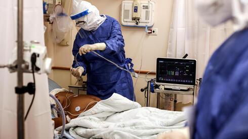 Sala de coronavirus en el hospital Beilinson.