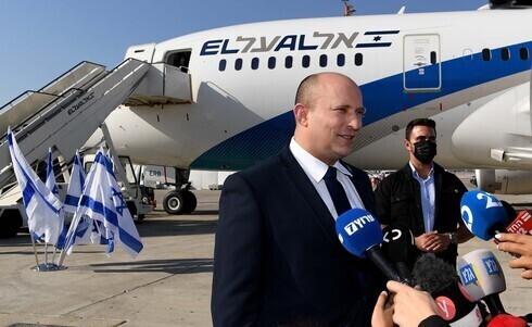 El primer ministro Naftali Bennett antes de viajar a Estados Unidos.