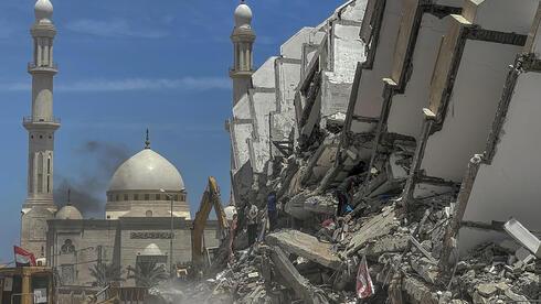Destrucción en Gaza durante los combates de mayo entre Israel y terroristas palestinos.