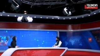 Un funcionario talibán, entrevistado en un canal de noticias afgano.