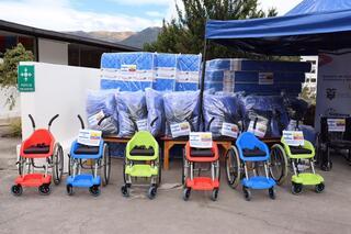 Algunos de los elementos donados por Israel al gobierno ecuatoriano.