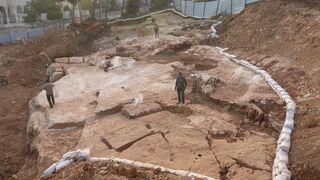 Imagen aérea de la cantera antigua en Jerusalem.