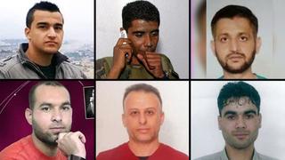 Los terroristas que se fugaron de la prisión israelí.