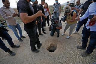 Lugar por el que salieron los terroristas fuera de la prisión de Gilboa.