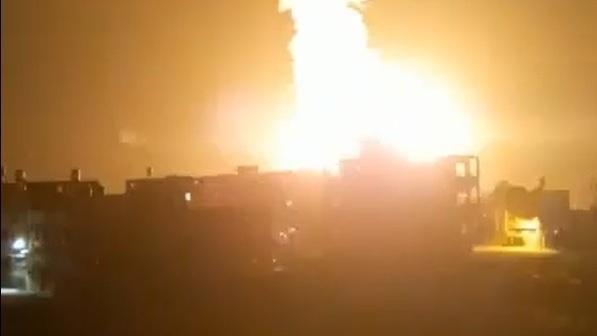 Bombardeo israelí contra una posición de Hamás en Gaza.