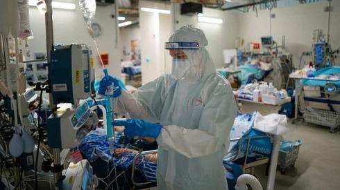 Sala COVID en el hospital Sheba.