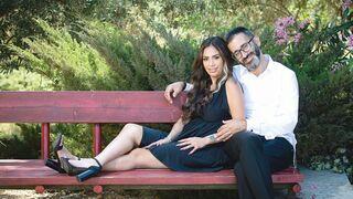 Sara Lavie y su esposo.