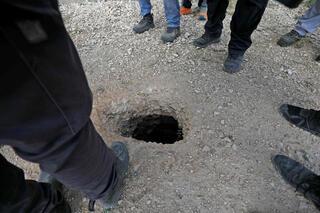 El túnel dónde se dio la fuga en Gilboa.