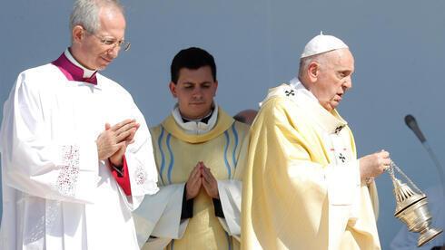 El papa Francisco en la Plaza de los Héroes en Budapest.