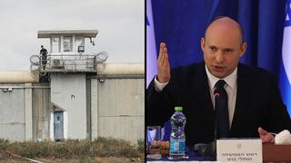 El primer ministro Naftali Bennett y la prisión de Gilboa.