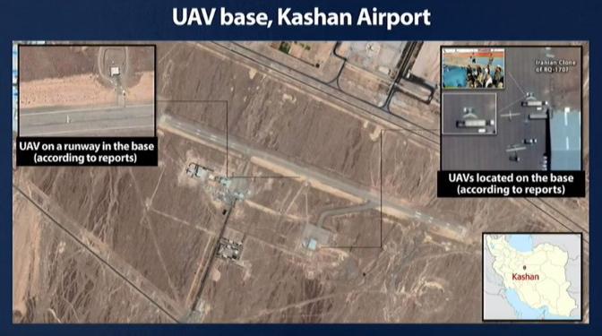Base de Kashan en Irán.