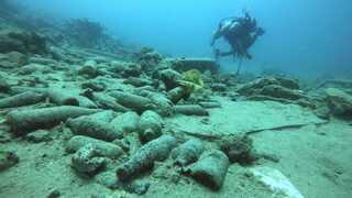 Desechos en la Bahía de Eilat.