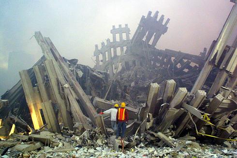 Restos de las Torres Gemelas tras los atentados del 2001.