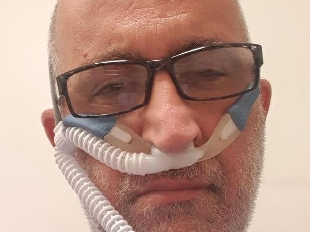Jai Shaoulian durante su internación en el hospital.