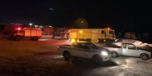 Fuerzas de rescate en el lugar del accidente de una avioneta israelí en Samos, Grecia.