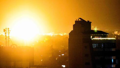 Ataque de las FDI en la Franja de Gaza.