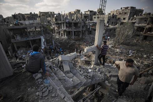 Destrucción en Gaza por bombardeos israelíes durante los combates de mayo entre las FDI y terroristas palestinos en el enclave.