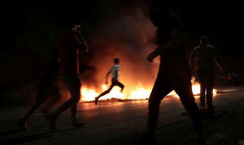 Enfrentamientos entre alborotadores palestinos y soldados israelíes cerca de Nablus la semana pasada.