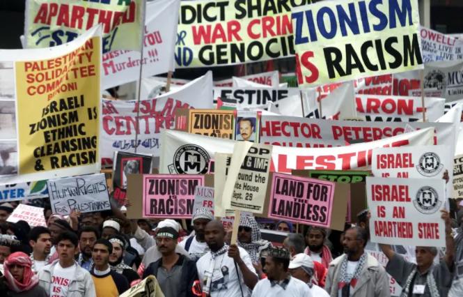 Protestas en Durban, 2001.