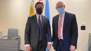 Dan Mariaschin, CEO de B'nai B'rith Internacional, se reunió en Nueva York con el presidente de Uruguay, Lacalle Pou.