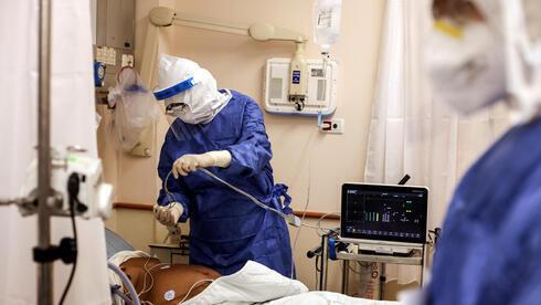 Sala COVID en el hospital Beilinson.
