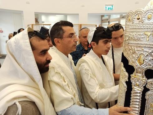 Sinagoga en el kibutz Sde Nehemia.