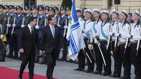 Yitzhak Herzog en Ucrania.