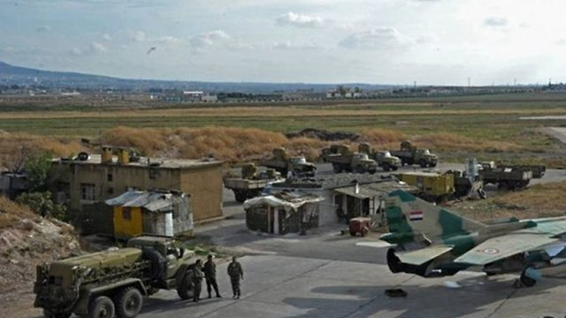 La base aérea siria T4, cerca de Homs.