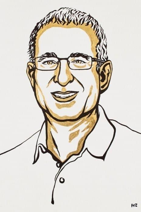 Caricatura del economista israelí estadounidense Joshua Angrist y ganador del Premio Nobel de Economía 2021.
