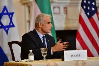 Lapid representó a Israel en una cumbre con Estados Unidos y Emiratos Árabes Unidos.