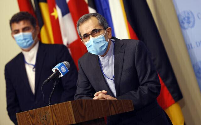 Enviado de Irán a la ONU, Majid Takht Ravanchi.