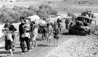 """La Nakba, el """"desastre palestino"""", el éxodo de cientos de miles de personas tras la guerra de la independencia de Israel."""