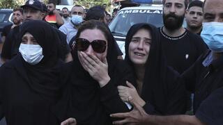Escenas de dolor se vieron en las calles de Beirut, este viernes.