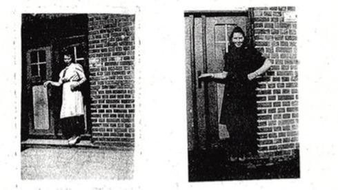 Irmgard Furchner durante su tiempo como secretaria en Stutthof.